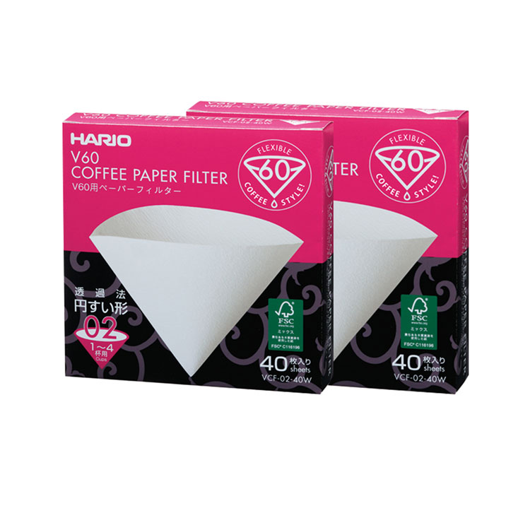 Combo 2 boxes of Coffee filter paper V60 size 02 40 sheets
